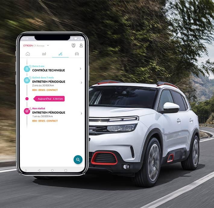 Application mobile My Citroën entretien et assistance